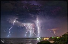 Fly the friendly skies.. (e0nn) Tags: steev steveselbyphotography steveselby pentax pentaxk1 hdpentaxdfa2470mmf28edsdmwr affinityphoto luminar3 lightning kiama visitkiama storms storm weather ocean night nightshot skylum ricoh