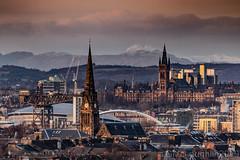 Glasgow sunset (GWMcLaughlin) Tags: lomond hydro ef landscape bridge ben cityscape canon snow 6d scotland 100400l 400mm clouds sky squinty university 2019 glasgowuniversity glasgow