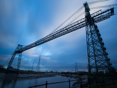 Transporting You to the Next World (RS400) Tags: newport transport bridge clouds sky wow amazing nd filter cool long exposure water river travel south wales photography industry outside landscape olympus slow shutter speed