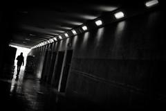 staring into the abyss (Daz Smith) Tags: dazsmith fujifilmxt3 xt3 fuji bath city streetphotography people candid portrait citylife thecity urban streets uk monochrome blancoynegro blackandwhite mono tunnel lights silhouette