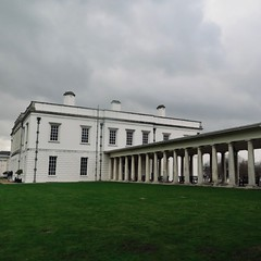 The Queen's House (msganching) Tags: classical architecture queens house pillars columns sky january grey winter london greenwich inigojones