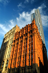 Potter Building (DJ Axis) Tags: frank gehry beekman tower new york by first ever residential structure manhattan 870 feet tall stainless steel blowing wind curving walls fondu bâtiment chandelle candle building architecture skyscraper highrise complex skyline infrastructure outdoor spruce street tallest towers world city 1882 norris park floors red brick brownstonecolored terra cott row g starkweather queen anne neogrec styles