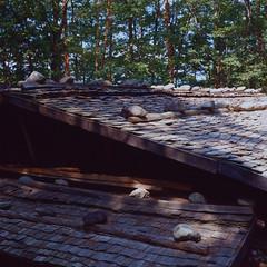 The roof (lebre.jaime) Tags: japan takayama 日本 高山 japanesetraditionalhouse minka 民家 japanese traditional house roof hasselblad 503cx planar cf2880 analogic film120 positive kodak ektachrome100xprofessional iso100 epz epson v600 affinity affinityphoto