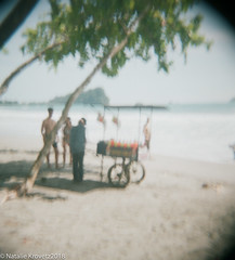 CostaRica21.jpg (nataliekrovetz) Tags: 2018 film holga costarica beach ocean vacation vendor water people blurry blur sky sand centralamerica