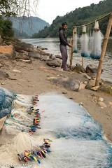 Bihari Fisherman Preparing Nets (Nick Mayo/RemoteAsiaPhoto) Tags: fishingnet india arunachalpradesh paya
