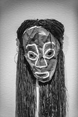 Faith Ringgold (Thomas Hawk) Tags: america california crockerartmuseum faithringgold museum sacramento usa unitedstates unitedstatesofamerica bw mask sculpture us fav10