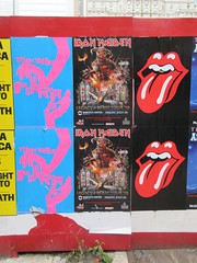 Suspiria 2018 movie poster Iron Maiden with Rolling Stones Lips and Tongue Posters 5234 (Brechtbug) Tags: iron maiden concert poster blue construction fence eddie devil monster zombie album british heavy metal skeletal sidekick west 45th street nyc 2018 november 11182018 brit soldier creepy demon dude union jack flag torn billboard posters billboards cover art with rolling stones lips tongue suspiria movie