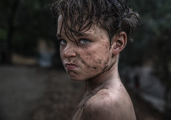 Lord of the Flies ({jessica drossin}) Tags: jessicadrossin portrait boy mud freckles dirt mad emotion face child hair eyes wwwjessicadrossincom