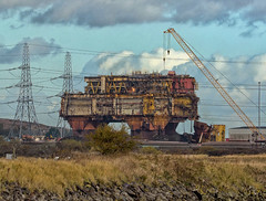 Demolition, Teesport (Steve M. Walker) Tags: demolition oil rig teesport teeside river industry