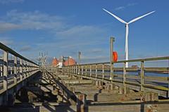 Blyth Staithes (42jph) Tags: nikon d7200 uk england blyth northumberland harbour turbine river landscape
