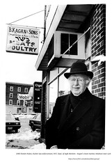 1990  Sholem Rubin, kosher law enforcement, NYS Ag & Markets Dept.   at Kagan's Meat market, Madison just above Lark, 1990 (albany group archive) Tags: 1990s old albany ny vintage photos picture photo photograph history historic historical