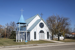 Our Lady of the Nativity Catholic Church (Mick L.) Tags: ourladyofthenativitycatholicchurch church bell tower belltower mccreary manitoba
