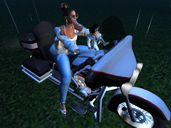 Midnight Ride.. (mariana.diamondz) Tags: firestorm secondlife motorcycle babygirl mother daughter night ride bike fun times