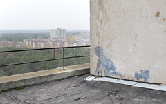 Pripyat Rooftops (Sean M Richardson) Tags: abandoned pripyat ukraine chernobyl exclusion zone rooftop graffiti canon photography explore urbex creepy autumn fall art