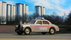 Corgi Toys Riley Pathfinder Police No. 209 Built From 1958 - 1962 Restored And Converted Into A Modern London Metropolitan Police Car : Diorama British Tower Blocks - 3 Of 23 (Kelvin64) Tags: corgi toys riley pathfinder police no 209 built from 1958 1962 restored and converted into a modern london metropolitan car diorama british tower blocks