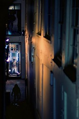 Alley (claudia 222) Tags: amsterdam noctilux night human women cold 50mm