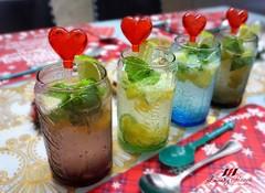 Sparkling Mango Mint Soda (Blackswanst) Tags: spritzer soda limesoda mango limejuice sparklingjuice christmas christmasfood partyfood partydrinks drinks lemonade