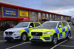 BMW X5 & Volvo XC90 (Cleveland & Durham RPU) Tags: cleveland police volvo xc90 d5 demo demonstrator bmw x5 anpr arv armed reponse vehicle rpu roads policing unit traffic car 999 emergency policeinterceptors nx65crk kx68nfu