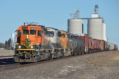 BNSF 1826, H-ALNSTE, Gurley, NE 01.02.18 (TJY Productions) Tags: manifest freight coal basin powderriver prb sterling alliance emd rail railway railroad trains train 1826 sd402 sd40 nebraska neb ne gurley bnsf