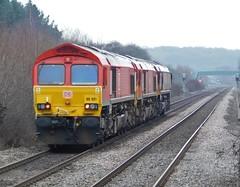 Convoy of Sheds (The Walsall Spotter) Tags: belmontdownyard class66locomotive dbschenker lightengine 66021 totontmd ilkestonrailwaystation erewashvalleymainline