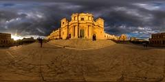 Basilica di San Nicolo (HamburgerJung) Tags: sizilien sicily sicilia noto panorama pentaxk3 da1017 freihand freehand kirche kathedrale equirectangular