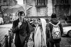 You Should Have Brought The Posh Brolly!!! (Cycling-Road-Hog) Tags: blackwhite candid canoneos750d citylife colour couple efs55250mmf456isstm edinburgh edinburghstreetphotography fashion monochrome people places royalmile scarf scotland street streetphotography streetportrait style umbrella urban