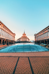 National Assembly Building in Sofia, bulgaria (T is for traveler) Tags: sofia bulgaria architecture building national assembly metrostation serdika sunset travel traveler traveling tisfortraveler cityscape city wide samyang 14mm canon 5d markii view landmark famousplace