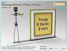 """Message Board Photo Frame"" by Lemon Chilliz MadPea Premium Alliance ""The Lonely Hearts Club"" Hunt (MadPea Productions) Tags: madpea madpeas premium premiums hunt hunts alliance alliances collaborator collaborators collaboration decor decoration excitement fun mystery noir"