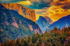 Motivation (nixter) Tags: scenic cali california halfdome nationalpark nature sunset trees yosemite