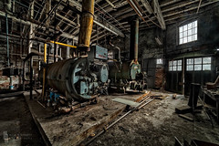 Cold Boilers (billmclaugh) Tags: industry paper pulp mill warehouse ohio abandoned urbanexploration urbex ue boilers rust decay shadows derelict debris canon 5dmiii rokinon14mmf28ifedumc highdynamicrange hdr adobe lightroom photoshop on1 perfecteffects