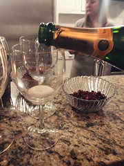 25/365 (moke076) Tags: 2019 365 project 365project project365 oneaday photoaday mobile cell cellphone iphone champagne pouring glass bubbles bubbly veuveclicquot fancy champs pomegranate seeds friend person woman countertop kitchen wine night drink alcohol