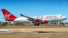 Virgin Atlantic | G-VAST | Boeing 747-41R | BGI (Terris Scott Photography) Tags: aircraft airplane aviation plane spotting nikon d750 tamron 70200mm f28 di vc usd g2 travel barbados jet jetliner virgin atlantic boeing 747 400 queen skies grass sky
