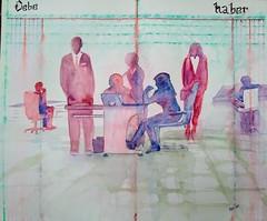 En la oficina (benilder) Tags: acuarela watercolor watercolour aquarelle office oficina trabajo bulot bureau contabilidad comptabilité acount benilde art