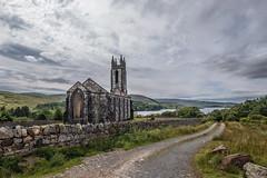 dunlewey church in poison glen, ireland (-liyen-) Tags: church dunleweychurch countydonegal ireland road beauty summer clouds fujixt2 challengeyouwinner mpt676 matchpointwinner