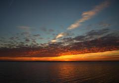 E79B1415 - Sunset (Arne J Dahl) Tags: canon denmark nordjylland limfjorden solnedgang sunset vand water view sky clouds