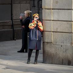 Catching Two Birds with one Shutter (Torsten Reimer) Tags: women europa katalonien rauchen streetphotography cigarette catalonia photographer candid leica smoking people frauen zwei spain europe spanien barcelona catalunya