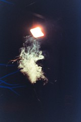 ️ (AloysiaVanTodd) Tags: analog argentique photography photographer cinestillfilm cinestill cinestill800 canon smoke poetry portrait antiportrait sombre dismal cloud light night