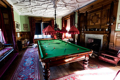 Fancy a Game (trevorhicks) Tags: bodmin england unitedkingdom gb naked nude national trust lanhydrock indoor snooker table light wall fireplace carpet floor books bookshelf chair painting curtain canon 5d mark iv sigma cue cornwall