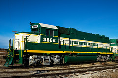Steamboat Rock, Iowa November 10,2018 (Doug Lambert) Tags: iarr3802 emd gp38 locomotive iowariverrailroad railroad train shortline railfan iarr midwest transportation steamboakrock iowa canon1855 canon7dmarkii