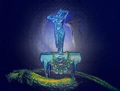 The blue treasure (skybluesky43) Tags: abstract abstrato arte art artistic photoshop nikon d7100 sigma 1835 blue woman jewls jóias creation creativity