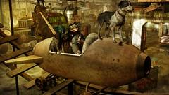 Amusement Park (tralala.loordes) Tags: nomad soy epia remarkableoblivion abandonedrollercoaster rogasmask laststand tralalaloordes tralalasdiner pinelake postapocalypse amusementpark dog cat drd deathrowdesigns kres hive