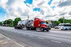 Truck Spotting Runaway Bay Jamaica. (Rab,Driver of P300NJB @Grampian Continental..) Tags: salem saintannparish jamaica jm rabie2412