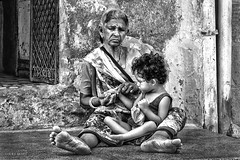 Street Portrait - Inside every old person is a young person wondering what the hell happened! (Louay Henry.) Tags: nikon nikond610 nikonaustralia d610 nikonportrait portraiture streetlife portrait streetphotography india citylife hardlife monochrome oldwoman blackandwhite outdoor blackwhite naturallight streetportraiture people closeup candidportrait candid poorwoman strangers poor character tamron tamron2470mmf28 tamron2470mm humanbeing oldhouse child poorchild streetportrait streetcandid
