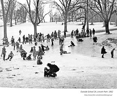 1962  children playing in Linocoln park outside school 24 (albany group archive) Tags: 1960s old albany ny vintage photos picture photo photograph history historic historical
