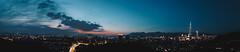 _MG_0156_全景 (waychen_c) Tags: taiwan taipei taipeicity daandistrict daan zhongpumountain zhongpumountaineastpeak taipei101 nanshanplaza buildings cityscape skyline sunset dark light night nightscape nightview 台灣 台北 台北市 大安區 大安 中埔山 中埔山東峰 台北101 南山廣場 夜景 東區 信義計畫區
