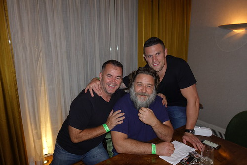 Terry George with Russell Crowe and Luke Burgess