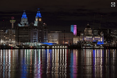 The River of Lights (alundisleyimages@gmail.com) Tags: liverpool waterfront unescoworldheretigesite royalliverbuilding cunardbuildingportofliverpoolbuilding tunnelvent reflections clocks liverbirds radiocitytower mannisland ports harbours maritime shipping england cityskyline night longexposure seascape landscape scousers helterskelter weather
