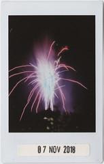 Fireworks (Say_No_To_Turtles) Tags: fujifilm neo 90 instax instant polaroid fireworks pyro fire burst fountain bonfire bulb longexposure