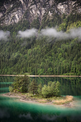 Lonely island in the lake | Eibsee, Germany (wiscmic) Tags: eibsee deutschland nebel garmischpartenkirchen alps mist mountains berge berg alpen morning forest sommer landscape landschaft see lake bayern bäume trees nature baum tree wald germany natur island bavaria grainau wäldera misty insel mauntains de