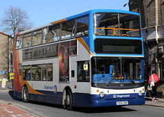 18139 PX04 DND 10-2018 (Cumberland Patriot) Tags: stagecoach north west england cumbria cumberland motor services cms morecambe white lund depot dennis trident alexander alx 400 alx400 18139 px04dnd low floor double decker bus derv diesel engine road vehicle lancaster route service